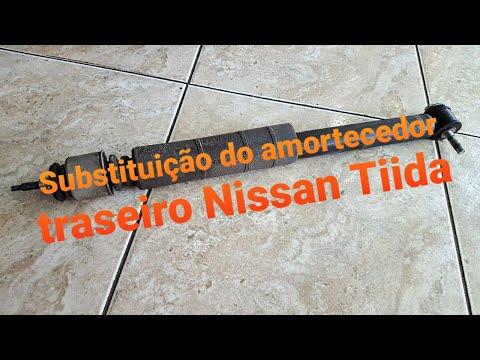 Substituição do amortecedor traseiro Nissan Tiida