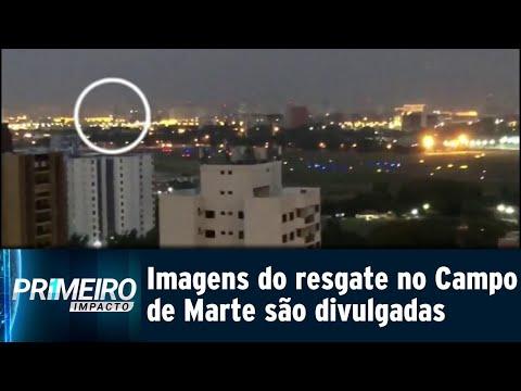 Bombeiros divulgam imagens de resgate do acidente no Campo de Marte   Primeiro Impacto (02/08/18)