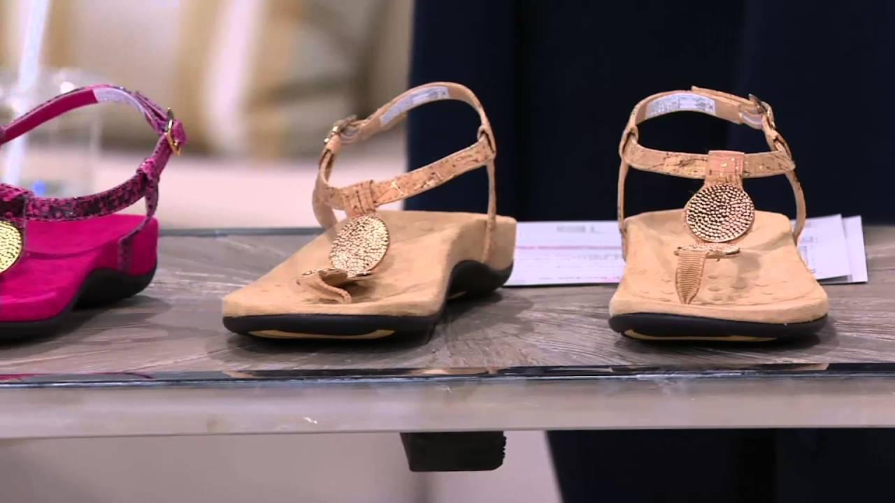 b9d861dabe302 Vionic Orthotic T-strap Sandals w/ Ankle Strap - Lizbeth on QVC