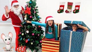 MARIA CLARA E JP EM: OS ESPIÕES DO PAPAI NOEL / Kids Catching Santa on Christmas Morning!
