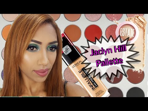 Jaclyn Hill palette eye look | Ghost in my house thumbnail