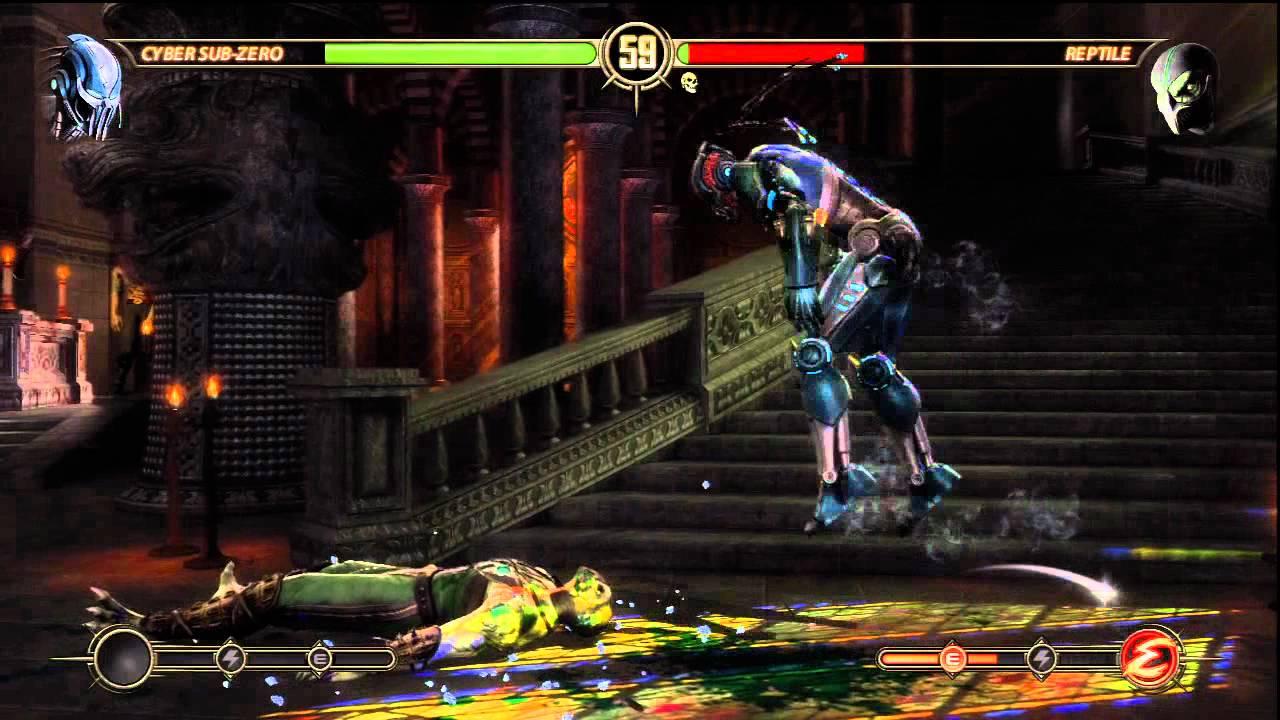 Mortal Kombat: Cyber Sub Zero vs Reptile (With Fatality ...