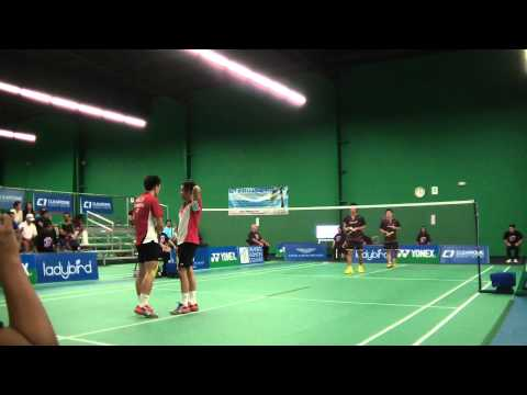 2014 USA International (IC) - MD F - Hoki/Kobayashi [JPN] vs. Liu/Ng [CAN] - Pt 1