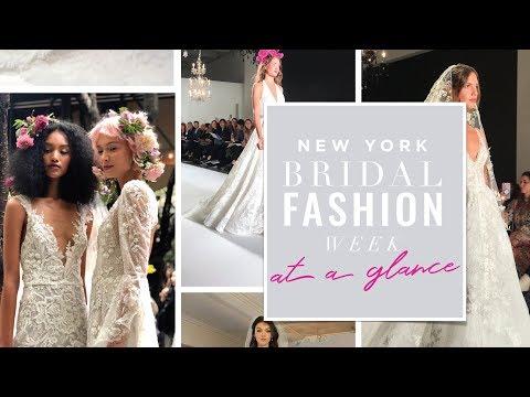 Trends from Fall/Winter 2020 New York Bridal Fashion Week. http://bit.ly/2ODXIYj