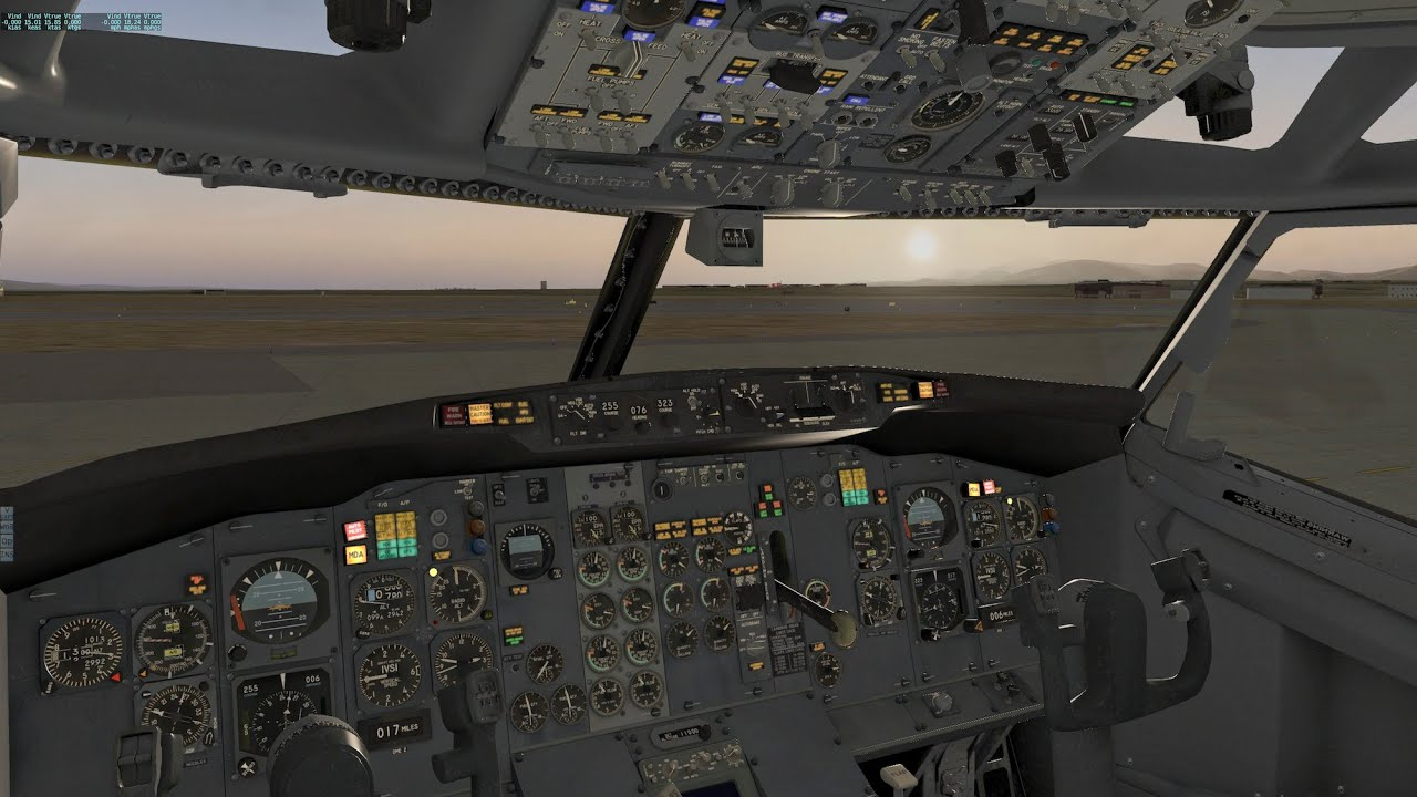 FlyJSim 732 737-200 Flight from KBUR to KSLC in X-Plane 10 - Part 1 - Cold  & Dark Start