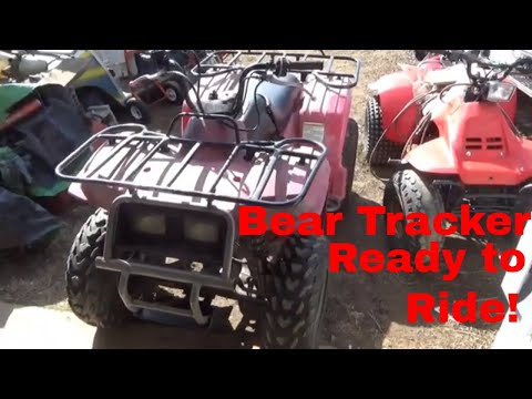 1999 Yamaha Bear Tracker 250, Air Cleaner, Gas Tank, Start, and Romp!