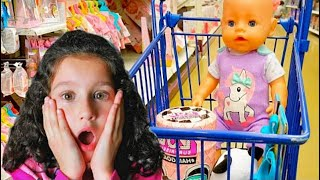 Alice Predend Play with Baby Born doll // Baby Born Doll Videos