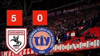 Samsunspor - Tarsus İ.Y Maçında Tam 5 Gol   Tribün Şov !!
