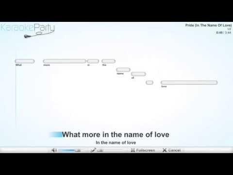 U2 - Pride (In The Name Of Love) - karaoke