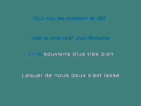 Jeanne Moreau   J'ai la m 25e9moire qui flanche [karaoke]