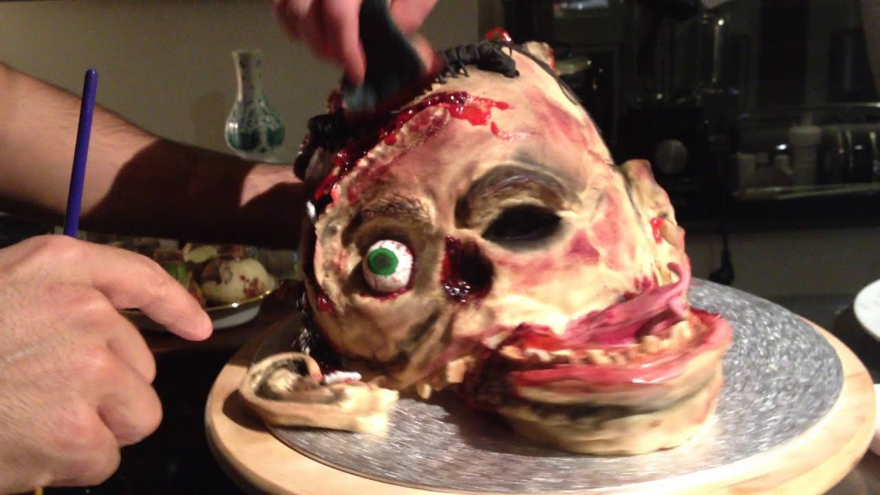 how to decorate a walking dead zombie cake for your halloween party