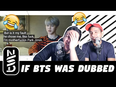 GUYS REACT TO 'If BTS Was Dubbed' By Cameron Philip (if burn the stage + run bts was dubbed)