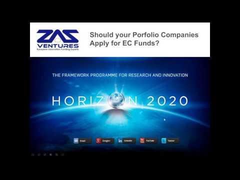 Horizon 2020 European Grants: Should Your Portfolio Companies Apply?