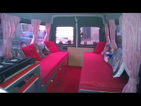 Ford Transit van mini bus to camper van conversion Part 7
