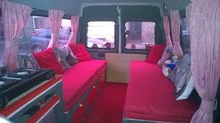Ford Transit van mini bus to camper van conversion Part 7