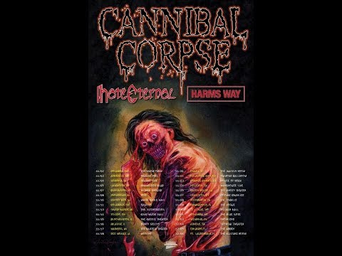 CANNIBAL CORPSE headline winter U.S. Tour w/ Hate Eternal and Harms Way..!