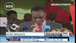Prof. Kaimenyi releases KCSE 2014 results