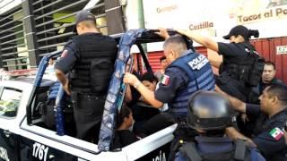 Operativo desalojo Av Plan de Ayala Cuernavaca