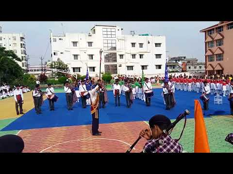 Band display by senior students of Oxford public school, Ranchi