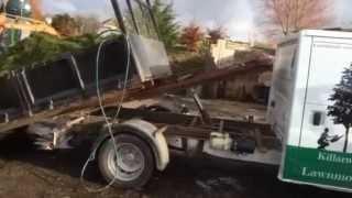 Jean Pain Lawn Care hot heap Set Up Irish landscaper lawn mower
