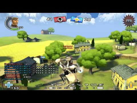 """Battlefield Heroes (68) """" Halloween / blablabla :) """" - Gunner gameplay Coastel Clash / Küstenkampf"""