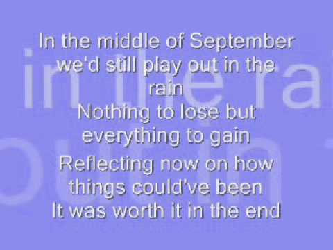 Daughtry September Lyrics