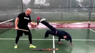 الكابويرا أفضل  مع البطل كراودر             the best capoeira with  Lateef crowder