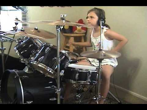"""slave """"Be Yourself"""" a drum cover by Emily"""