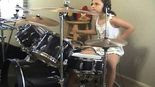 "Audioslave ""Be Yourself"" a drum cover by Emily"