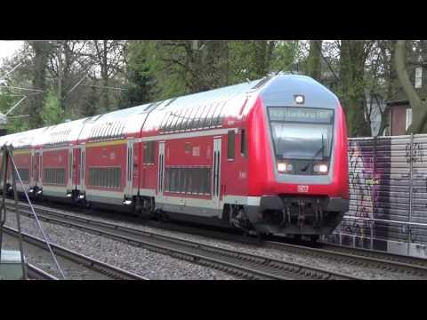 Regionalexpress RE 8 - Umleitungsverkehr auf der Güterumgehungsbahn (Hamburg Ostern 2017)