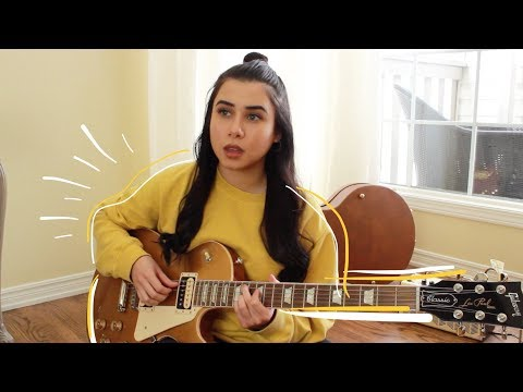 REX ORANGE COUNTY SUNFLOWER (electric guitar cover by annie green) *with lyrics/chords