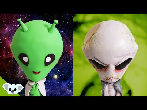 Cute and Scary Alien Cake |  2 Faced Amazing Cake Ideas | Koalipops