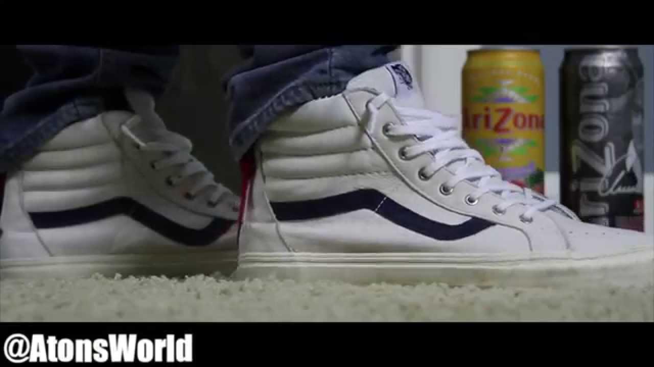 vans sk8 hi zip on feet