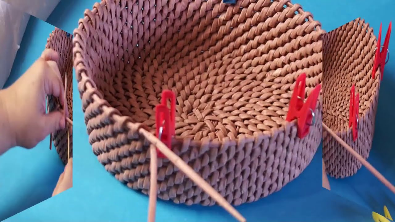 ♻  Осваиваем прорезные ручки в корневом плетении ♻