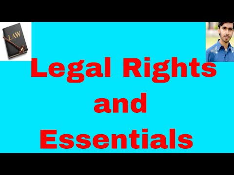 What are legal rights or Essentials of legal rights in hindi and urdu Or Legal Rights Part 2