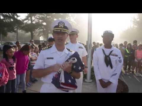 Sailors visit Shelton Park Elementary