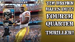 ULTIMATE LEGEND TIM BROWN BALLS OUT! GOLD SQUAD GAMEPLAY   Madden 17 Ultimate Team Gameplay   MUT 17
