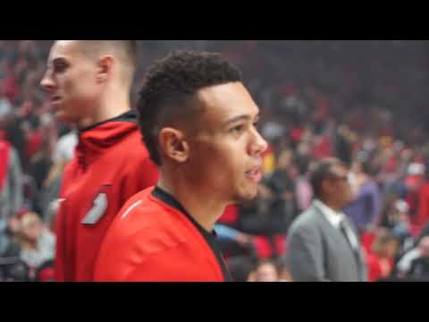 Watch: Behind the scenes of Portland Trail Blazers win over Los Angeles Lakers