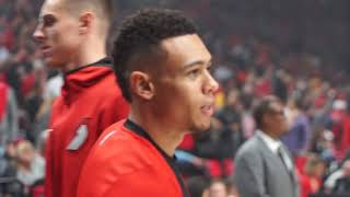 Behind the scenes of Portland Trail Blazers win over Los Angeles Lakers