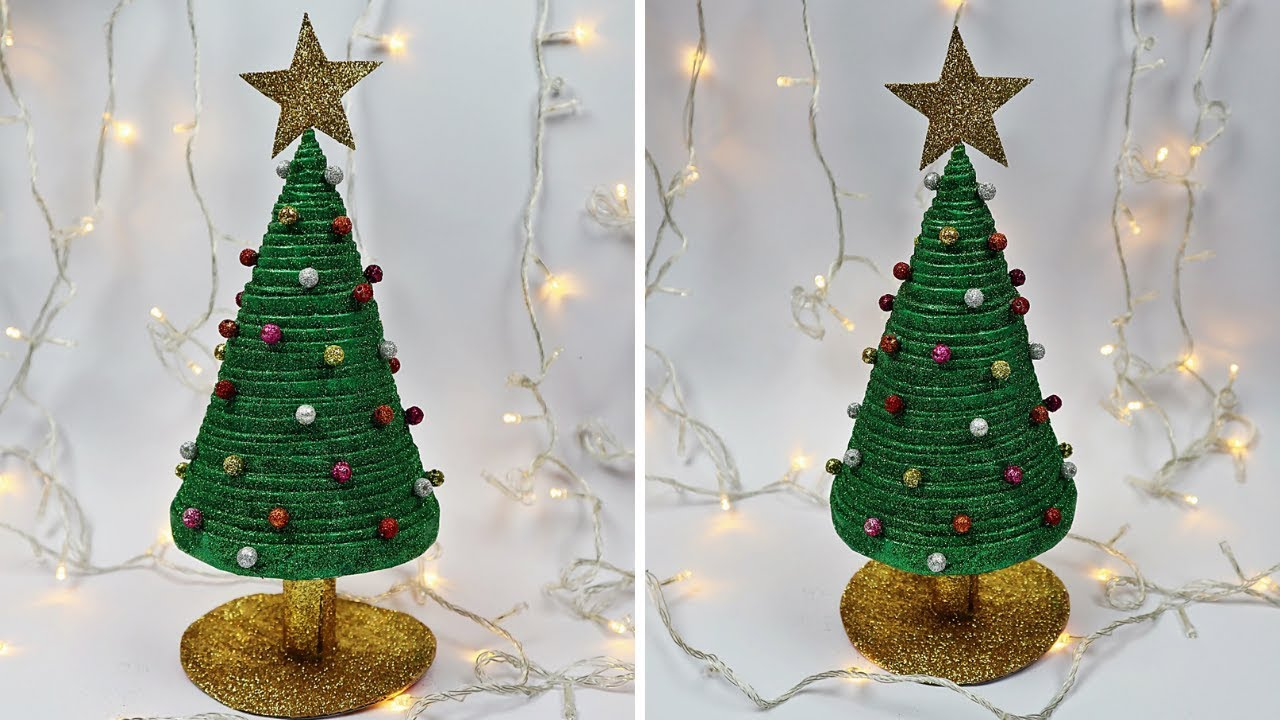 How To Make Christmas Tree From Newspaper Recycled