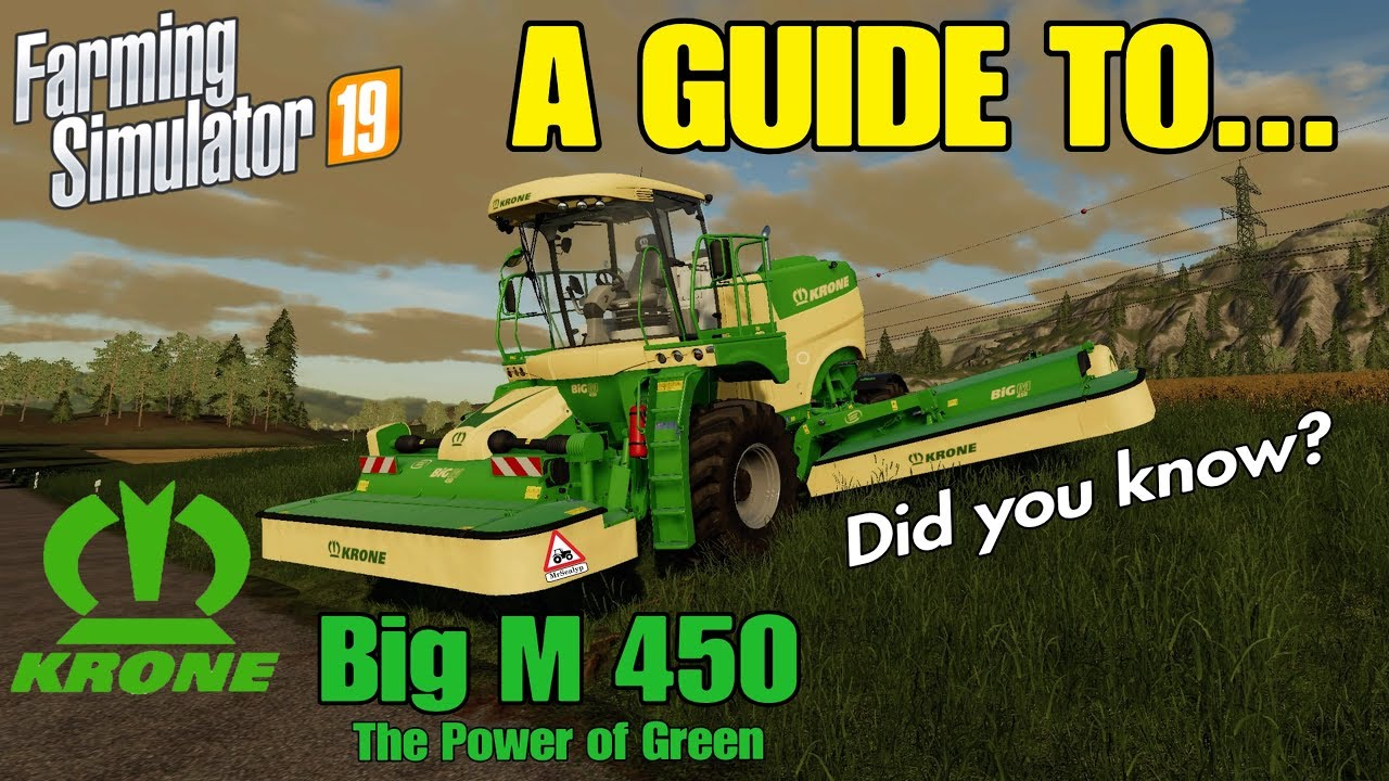 A Guide to    Krone Big M 450! Farming Simulator 19, PS4  Review