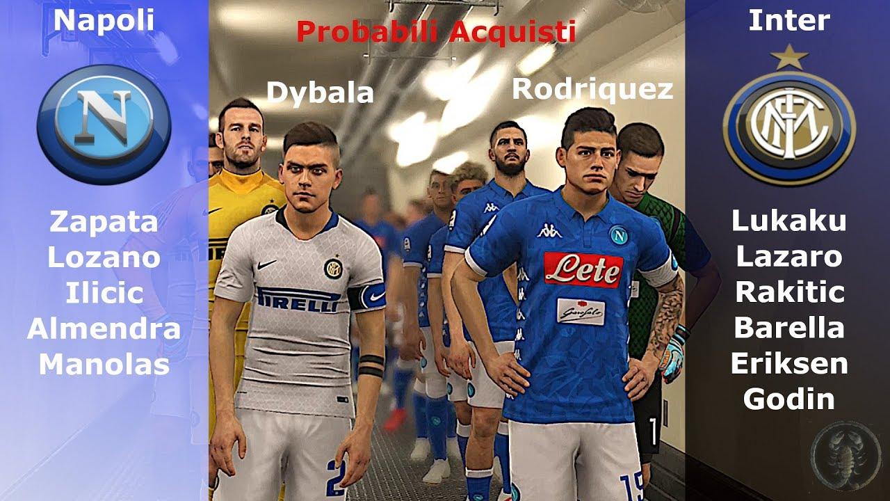 Pes 2019 Napoli Inter Partita Con Probabili Acquisti 201920 Patch Giù