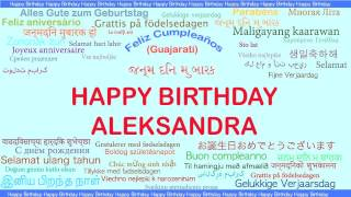 Aleksandra   Languages Idiomas - Happy Birthday