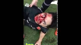 Singapore Sec School  Fight On Soccer Field + Injury (East Spring Secondary School)