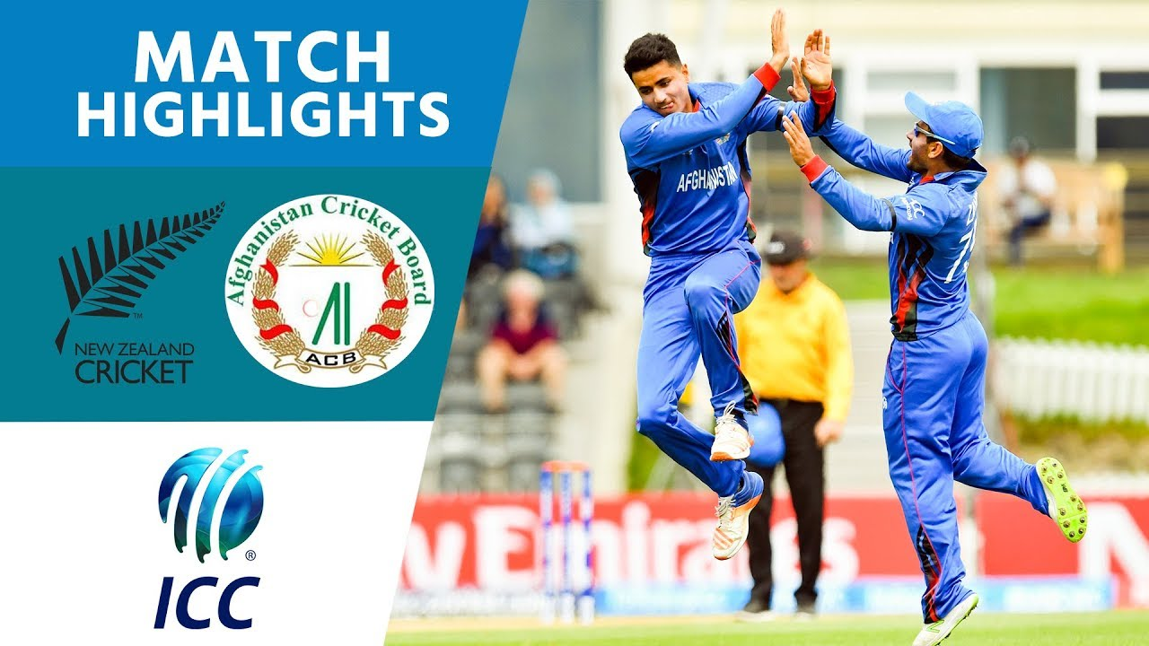Afghanistan Smash Hosts NZL | New Zealand vs Afghanistan | U19 Cricket World Cup 2018 - Highlights