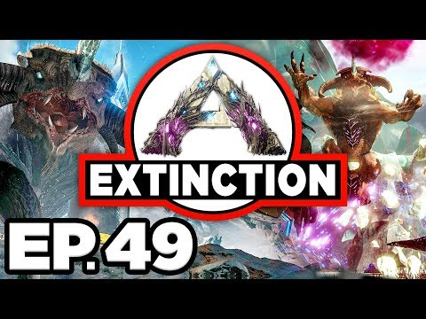 ARK: Extinction Ep.49 - QUAD XP BOOST, SOLO GIGANOTOSAURUS Vs RED OSD!!! (Modded Dinosaurs Gameplay)