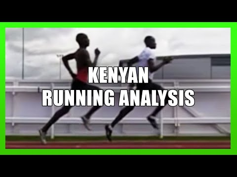 Running Technique of Kenyan Athletes in Slow Motion - YouTube