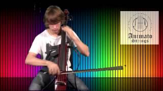 Tim Scott demonstrates Yamaha's Silent Cello cello at Animato