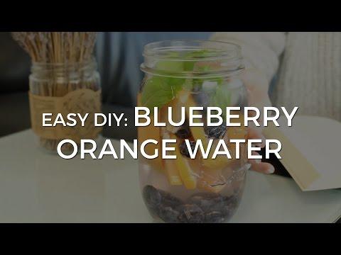 EASY DIY: Blueberry Orange Water