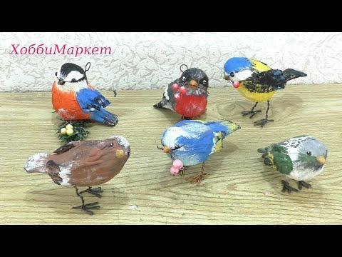 Птицы из природного материала своими руками